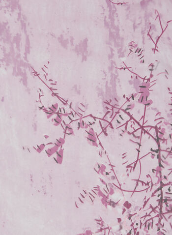 Foulard léger motif feuillage, Rose,  foulard, léger, feuille, automne hiver 2020