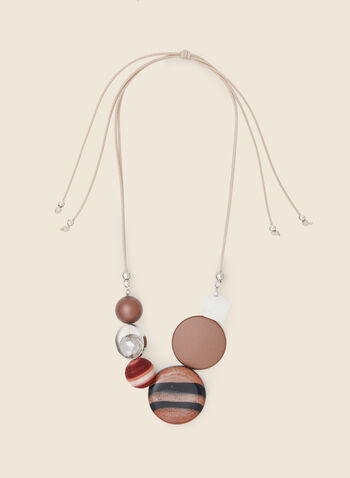 Multi-Stone Necklace, Brown,  necklace, stone, bead, multi, resin, fall winter 2020