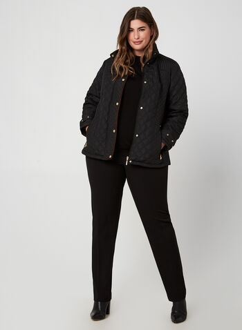 Weatherproof - Quilted Coat, Black,  fall winter 2019, quilted coat, long sleeves