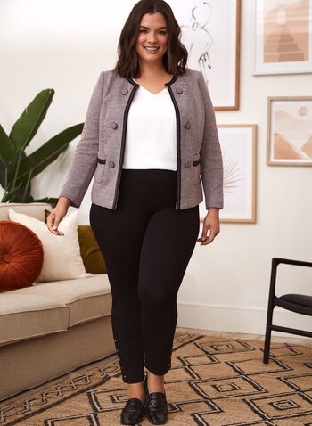 Button Detail Retro Jacket, Pink,  fall winter 2020, jacket, retro, chanel, button details, open front, fall winter 2020