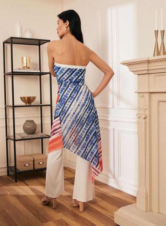 Joseph Ribkoff - Robe à motif aquarelle et pantalon, Blanc