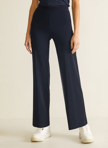 Modern Fit Wide Leg Pants, Blue,