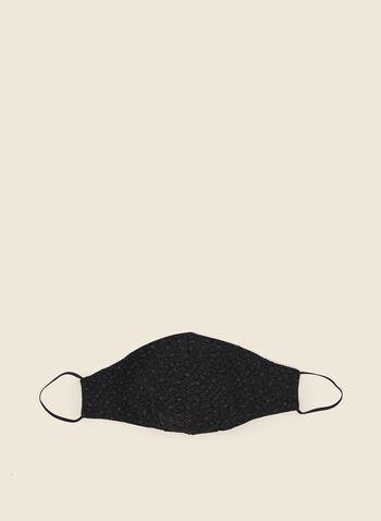 Masque en tissu motif floral, Noir,  masque, fleurs, tissu, automne hiver 2020