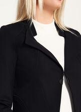 Vex - Blazer ajusté avec détails métalliques et zips, Noir, hi-res