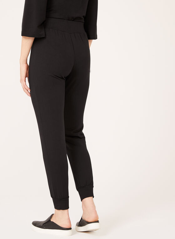 Cuff Leg Pull-On Pants, Black, hi-res