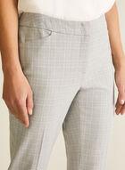 Modern Fit Tartan Print Pants, Grey