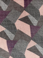 Foulard à motif patchwork, Gris, hi-res