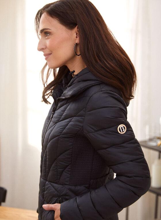 Bernardo - Ecoplume™ Mid Length Coat, Black