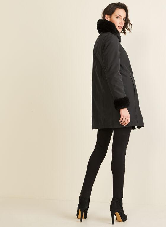 Novelti - Reversible Faux Fur Coat, Black