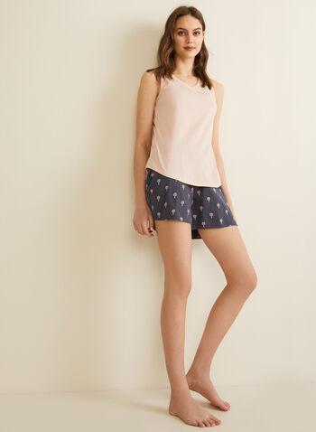 Claudel Lingerie - Pyjama sans manches, Rose,  printemps été 2020, pyjama, ensemble, Claudel Lingerie