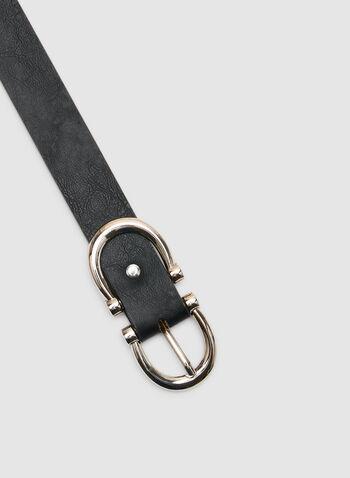 Adrienne Vittadini - Ceinture en faux cuir, Noir, hi-res,  automne hiver 2019, ceinture, faux cuir, accessoires