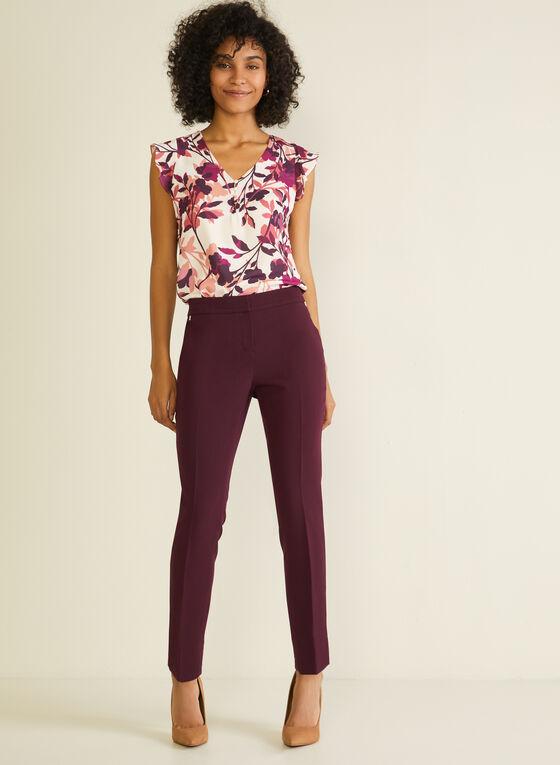 Straight Leg Pants, Purple