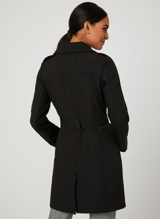 BCBGeneration - Lapel Collar Trench Coat, Black, hi-res