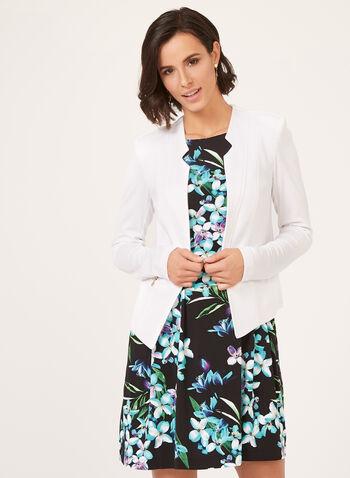 Vex – Short Knit Jacket, White, hi-res