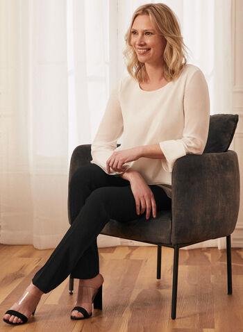 Louben - Pantalon coupe moderne à jambe droite, Noir,  printemps été 2021, pantalon, coupe moderne, poches, pinces, zip, attaches, bouton