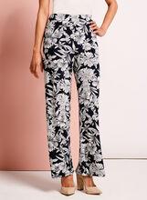 Floral Print Wide Leg Pants, , hi-res