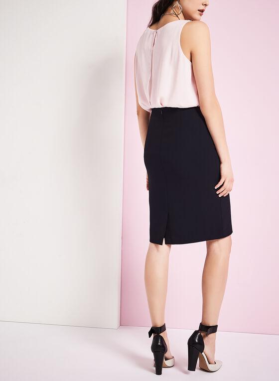 Solid Pencil Skirt, Blue, hi-res