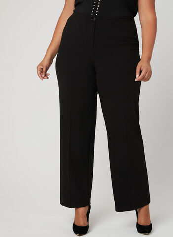 Pantalon coupe moderne à jambe large , Noir, hi-res