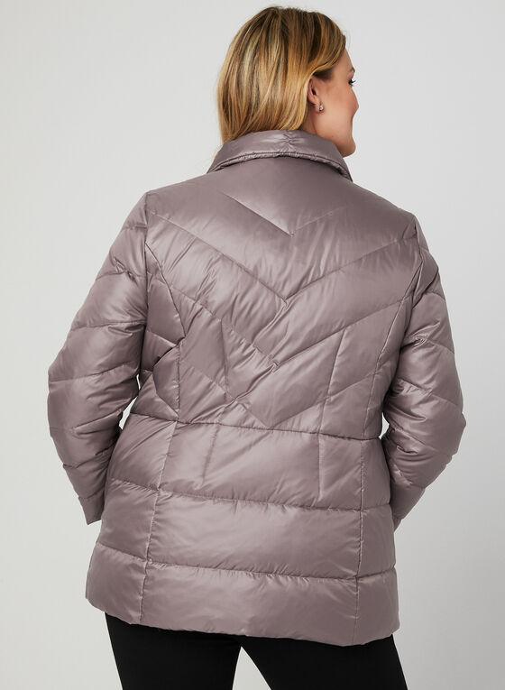Manteau en duvet à col montant, Violet, hi-res