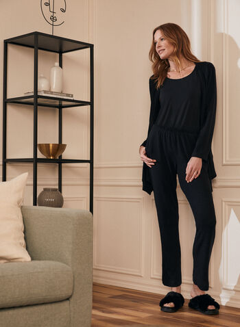 Sweater Knit Pull-On Pants, Black,  pants, slim leg, knit, sweater, pull-on, fall winter 2020