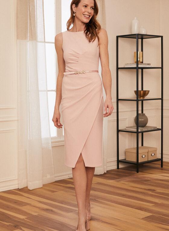 Joseph Ribkoff - Sleeveless Belted Dress, Pink