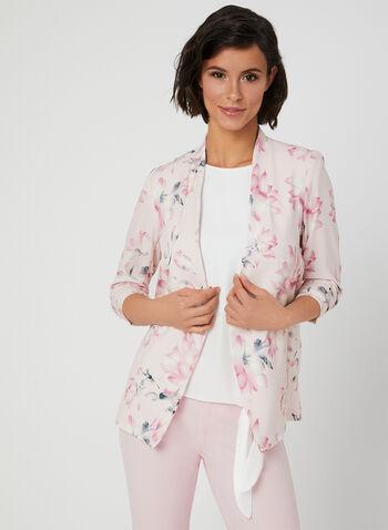 Floral Print Blazer, Multi, hi-res