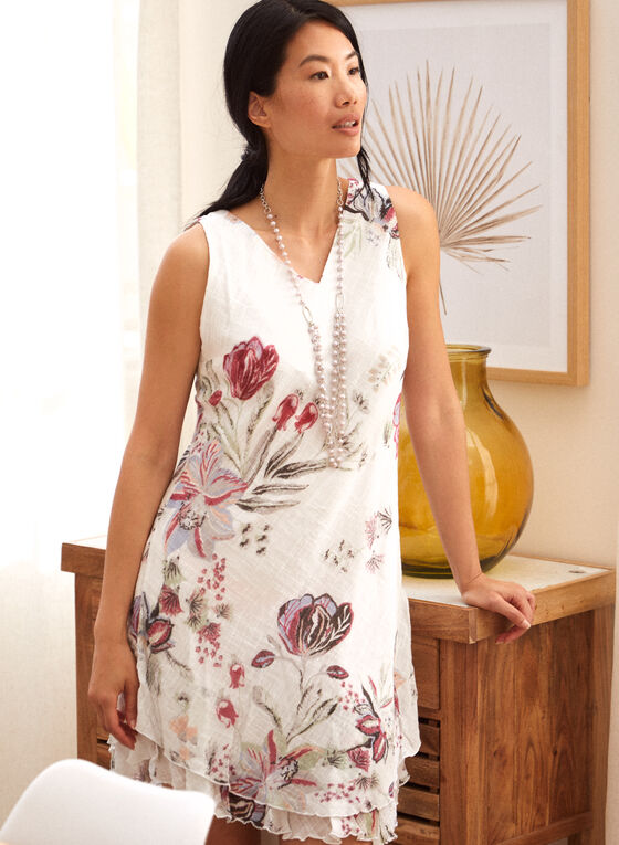 Charlie B - Cotton Gauze Ruffle Dress, White