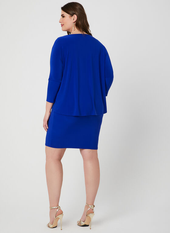 Joseph Ribkoff - Popover Sheath Dress, Blue, hi-res