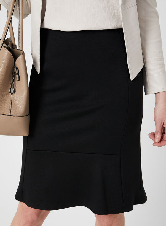 Pull-On Pencil Skirt, Black, hi-res