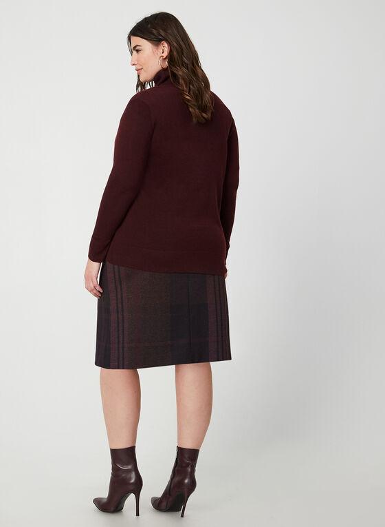 Cardigan boutonné en tricot, Violet