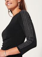 Jessica Howard - Robe à manches longues pierres et strass, Noir, hi-res