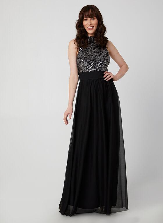 Sleeveless Sequin Dress , Black