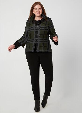 Joseph Ribkoff - Plaid Jacket, Grey, hi-res,  Canada, Joseph Ribkoff, jacket, plaid, long sleeves, button down, fall 2019, winter 2019