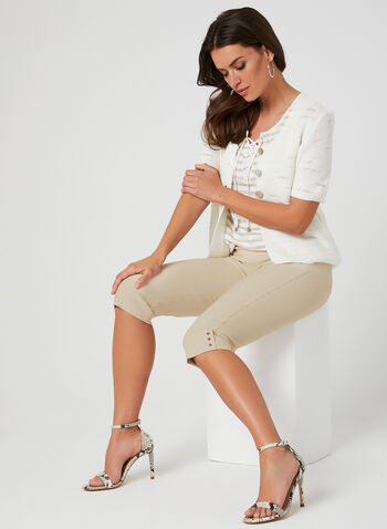 Alison Sheri - Knit Cardigan, White,