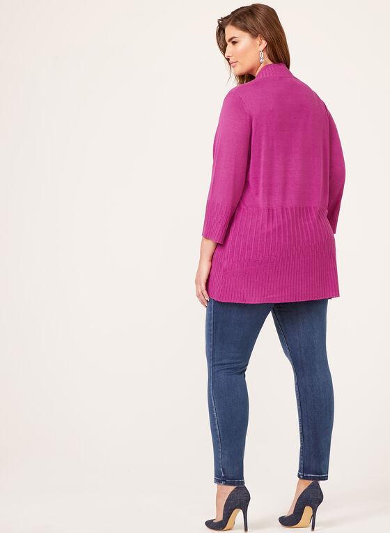 Cardigan ouvert en tricot côtelé , Multi, hi-res