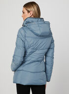 Quilted Faux Down Coat, Blue, hi-res