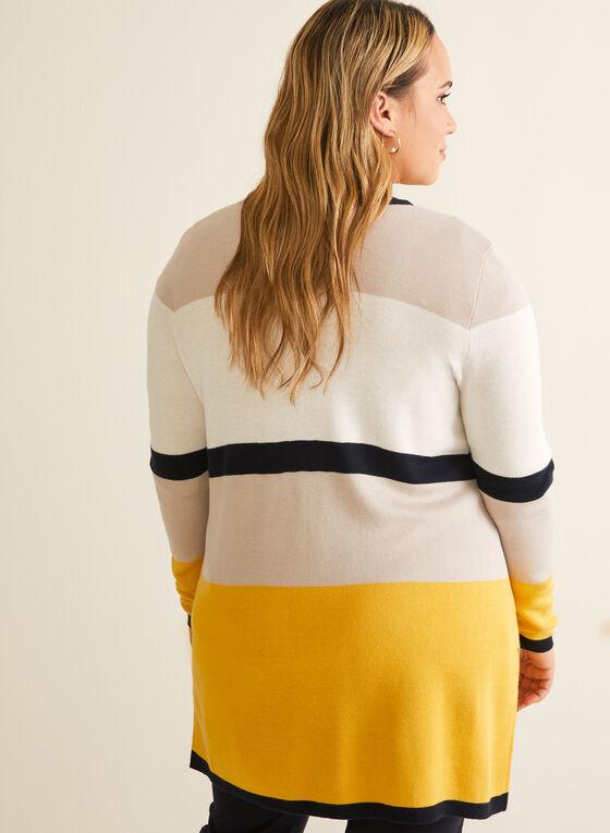 Colour Block Open Front Cardigan, Multi