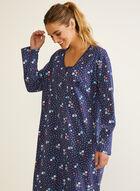 Chemise de nuit à motif floral, Bleu