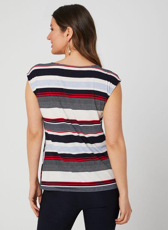 Stripe Print Top, Blue