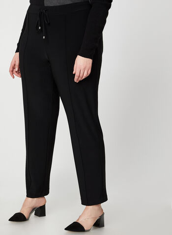 Modern Fit Straight Leg Pants, Black, hi-res,  Canada, pants, straight leg, Modern Fit, drawstring, elastic waistband, pull on, fall 2019, winter 2019