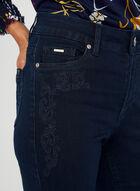 Carreli Jeans - Jean coupe signature à broderies, Bleu, hi-res