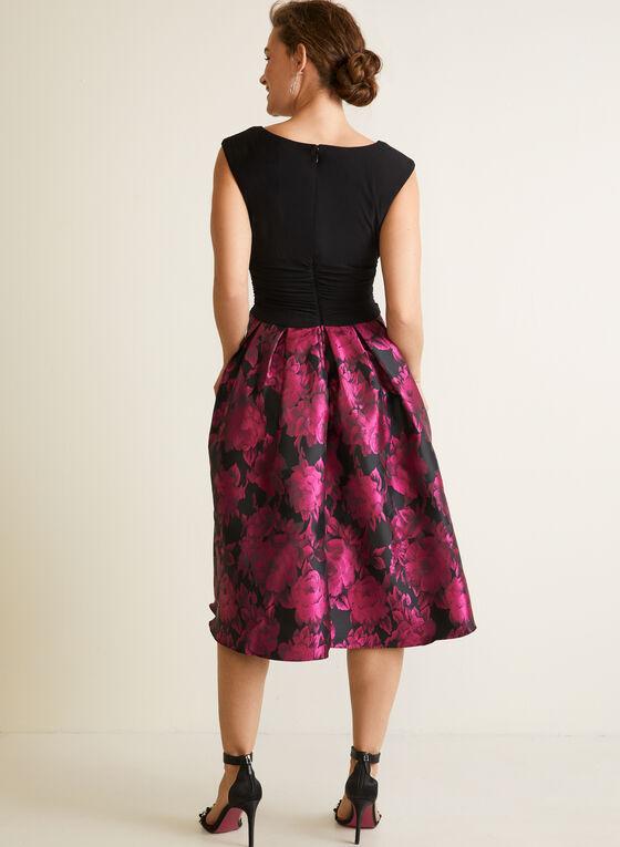 Floral & Monochrome Dress, Black
