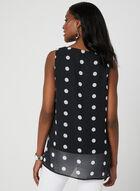Polka Dot Print Sleeveless Blouse, Black, hi-res