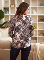 Argyle Baroque Print Sweater, Black