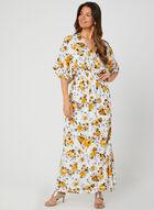 Floral Print Maxi Dress, White, hi-res