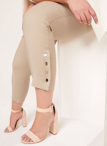 Modern Fit Slim Leg Pants , Brown, hi-res