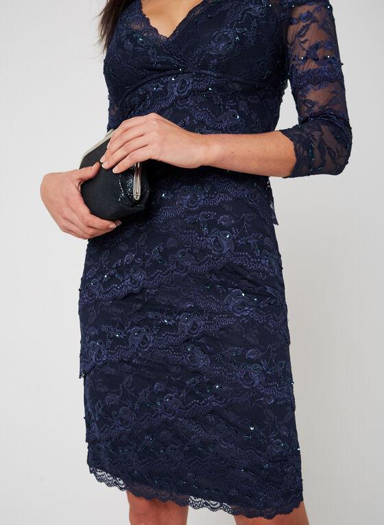 Marina - Beaded Lace Dress, Blue