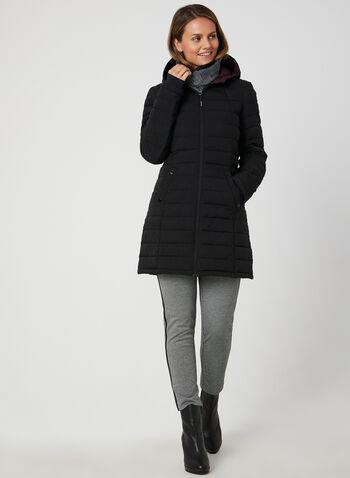 HFX - Manteau en duvet synthétique, Noir, hi-res,  automne hiver 2019, manteau, matelassé, duvet, manches longues, synthétique, capuchon