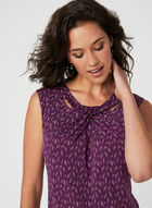 Twist Detail Jersey Top, Purple, hi-res