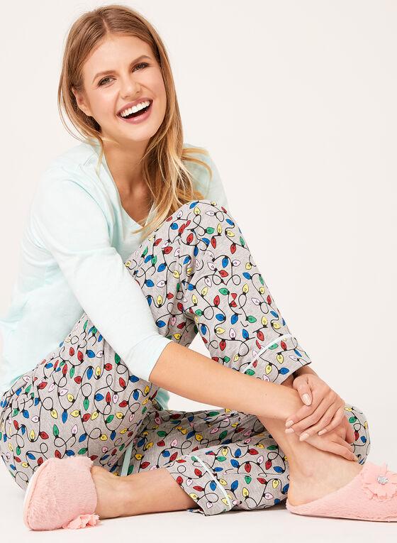 Pillow Talk - Cotton Jersey Pajama Set , Blue, hi-res